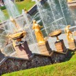 Grand Cascade Fountains At Peterhof Palace, St. Petersburg, Russ — Foto Stock