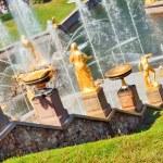 Grand Cascade Fountains At Peterhof Palace, St. Petersburg, Russ — Stock Photo