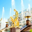 Grand Cascade Fountains At Peterhof Palace, St. Petersburg, Russ — Stock Photo