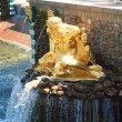 Grand Cascade Fountains At Peterhof Palace, St. Petersburg, Russ — Foto de Stock
