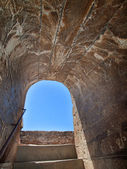 Detail of Alcazaba fortress, the Alhambra in Granada, Andalucia — Stock Photo