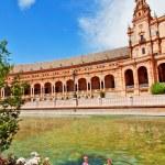 Famous Plaza de Espana, Sevilla, Spain. Old landmark. — Stock Photo