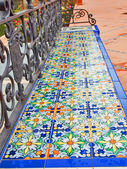 Bench in Spanish Square in Sevilla, Spain — Stock Photo