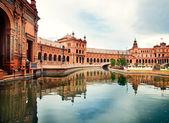 španělské náměstí v sevilla, španělsko — Stock fotografie