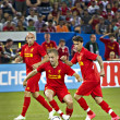 liverpool fc north american tour — Stock Photo