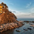 Stock Photo: Cinque Terre sunset.