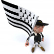 Gentleman with flag — Stock Photo