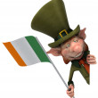 Irish gentleman with flag — Stock Photo