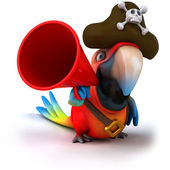 Parrot and speaker — Stock Photo