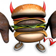 Evil hamburger — Stock Photo #11369928