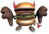 Evil hamburger — Stok fotoğraf
