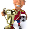 Stock Photo: Spanish footballer