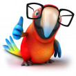 Fun parrot with glasses — Stock Photo #11556539