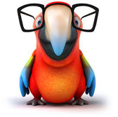 Fun parrot with glasses — Stock Photo