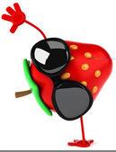 Fun strawberry — Stock Photo