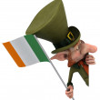 Irish gentleman with flag - Stock Photo