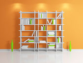 Modern bookshelf. — Stock Photo