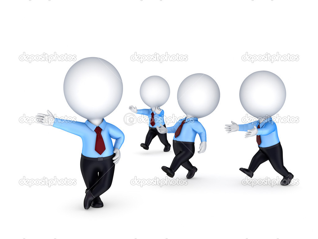 Leadership concept.Isolated on white background.3d rendered illustration. — Stock Photo #11021879