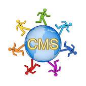 Concetto di Cms. — Foto Stock
