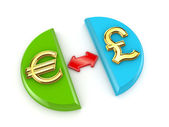 Euro and pound sterling signs. — Стоковое фото