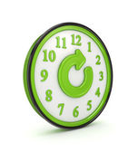 Refresh icon on a green watch. — Stockfoto