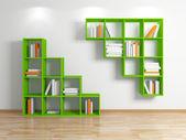 Modern bookshelf. — Stock Photo