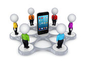 3d small around mobile phone. — Stock Photo