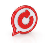 Circular arrow icon. — Stock Photo