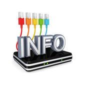 Concetto di informazioni. — Foto Stock