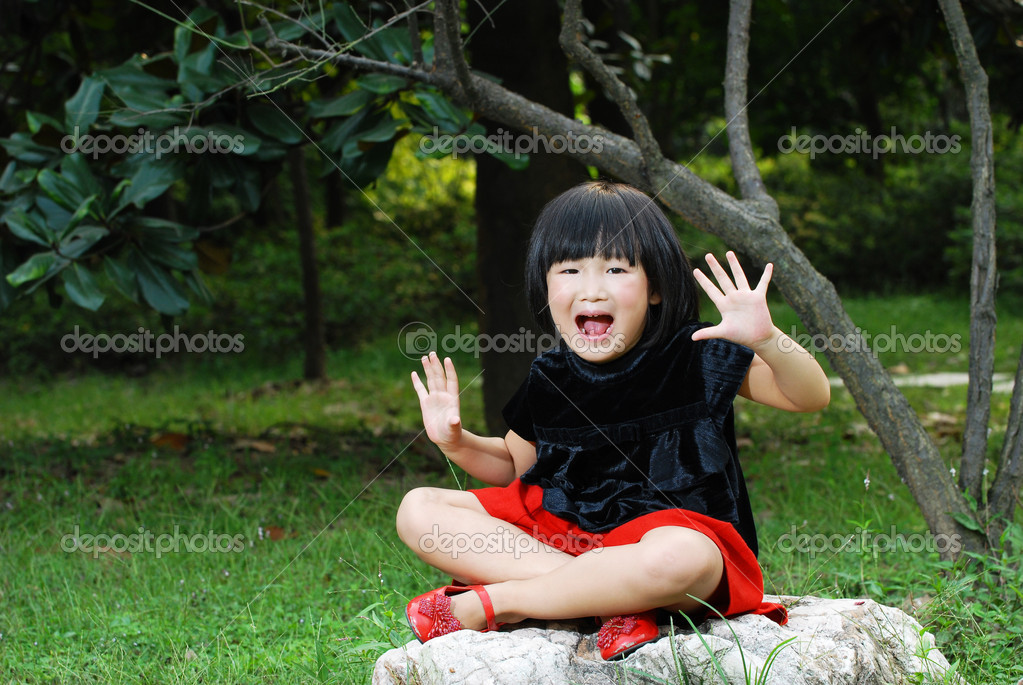 Portrait of asian cute child smiling   Stock Photo #10997043
