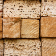 Building bricks from the coquina — Stock Photo