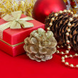 Golden Christmas decorations — Stock Photo #10951170