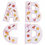 School paper alphabet. Letter R, S, T, U, ! — Stock Vector #11099167