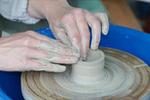 Working on the potter's wheel — Stock Photo