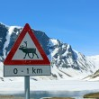 Norwegian Road Sign - Stock Photo
