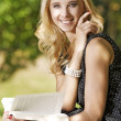 Young woman reading book — Stock Photo #11999717
