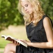 Young woman reading book — Stock Photo #12026838