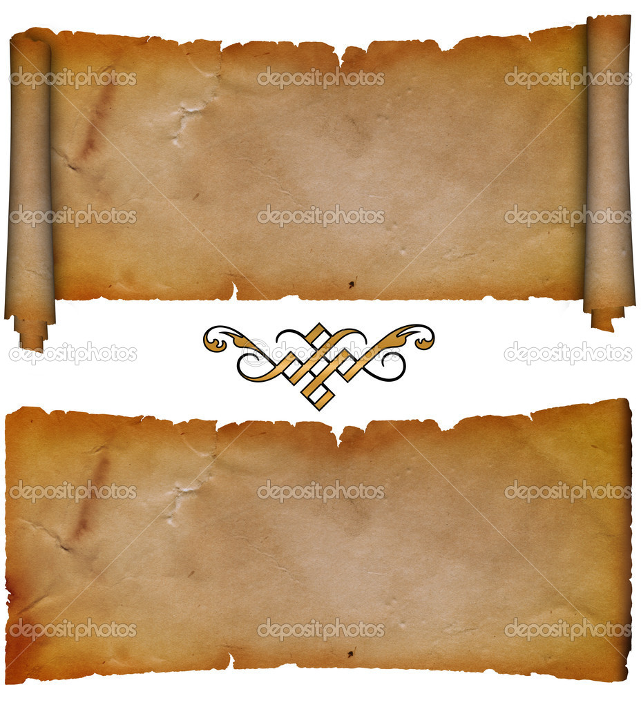 Parchment Paper Scroll Background
