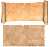 Scroll of parchment and old paper texture. — Stock Photo