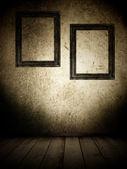 Twee frames op de muur. — Stockfoto