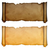 Scroll of antique parchment. — Stock Photo