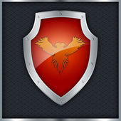 Red shield. — Stock Photo