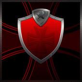Red heraldic shield. — Stock Photo