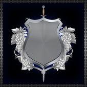 Heraldischen schild. — Stockfoto
