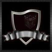 Ornate heraldic shield. — Stock Photo