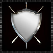 Shield with sword and spears. — Stock Photo