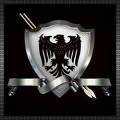 Heraldic shield and spears. — Stock Photo