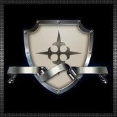 Heraldic shield. — Stock Photo