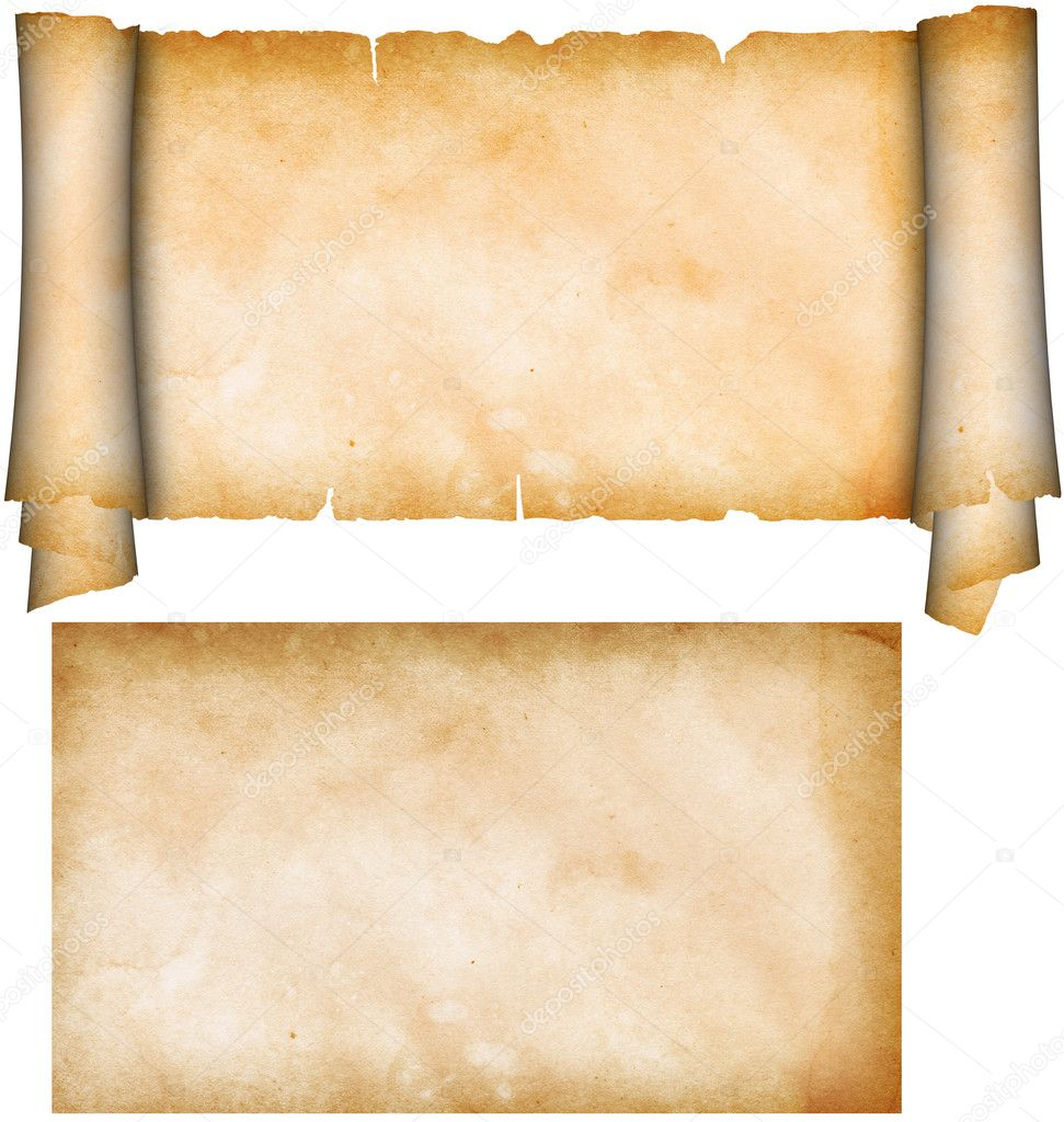 Parchment Paper Scroll Scroll of Parchment And Sheet