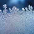 Ice frost window — Stock Photo